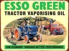 Esso Green Oil, Fordson Tractor, Truck, Classic/Vintage, Medium Metal/Tin Sign