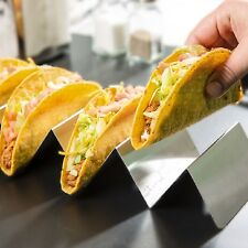 New Taco Shell Holder Tortilla Stand Rack Stainless Steel Tray Holds 3-4 Tacos