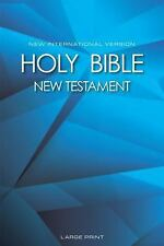 NIV New Testament, Large Print by Biblica Biblica and Zondervan Staff (2015,...