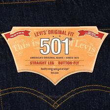 Levis 501 Jeans New Size 36 x 32 INDIGO ( Dark Blue ) Mens Button Fly #467