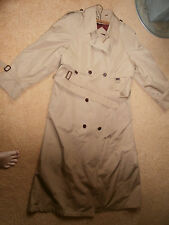 Vintage Womens Khaki Tan ETIENNE AIGNER Trench Coat Double Breasted Size 14 Reg