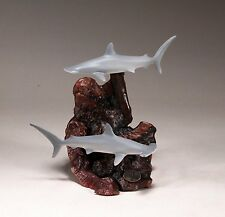 HAMMERHEAD SHARK Duo Sculpture New direct from JOHN PERRY 7in tall Figurine