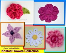 Knitting Pattern - Knitted Flowers Collection