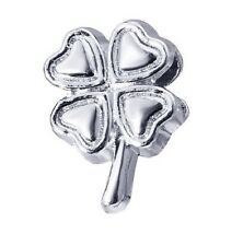 FOUR LEAF CLOVER CHARM BEAD FOR BRACELET OR NECKLACE