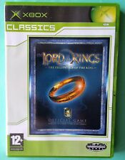THE LORD OF THE RINGS - THE FELLOWSHIP OF THE RING XBOX GAME exc condtion UK