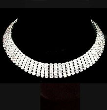 PET RHINESTONE NECKLACE JEWELRY PUPPY Dog/Cat Collar 15mm width