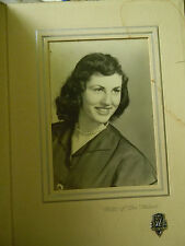 Vintage Graduation Picture of Young Woman 1952 In Frame