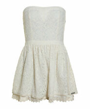 New Womens Superdry Unique Sample 50's Dovecote Dress Size Small Off White