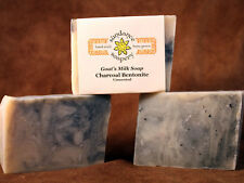 Homemade Goat's Milk Soap ~ Charcoal and Bentonite ~ Handmade Soap ~ Unscented
