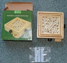 Labyrinth puzzle. Boxed. Traditional wooden. Maze style.