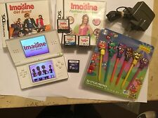NINTENDO DSL WHITE CONSOLE +5 IMAGINE GAME BUNDLE GIRL BAND PET VET TEACHER MY R