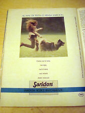 PUBBLICITA' ADVERTISING WERBUNG 1989 SARIDON COMPRESSE (G40)