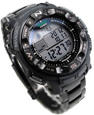 Casio Protrek Solar Power Compass Blackout Men's Watch PRG-250BD-1  PRG250BD 1