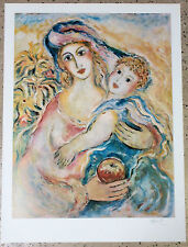 "Zamy Steynovitz ""Mother Love"" Signed/Numbered Lithograph children infant art"