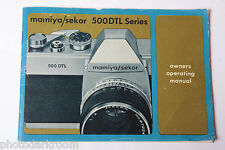 Mamiya Sekor 500DTL Series Camera Instruction Booklet Manual Guide - USED B63