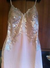 BNWT LIPSY NUDE METALLIC SILVER FOIL LACE DESIGN CAMI BODYCON MAXI DRESS SIZE 14