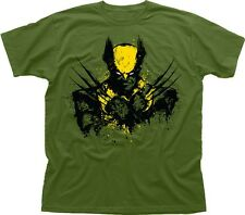 WOLVERINE X-Men Mutant Hugh Jackman olive printed cotton t-shirt 9635