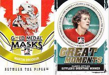 09-10 ITG Martin Brodeur Gold Medal Mask Between The Pipes