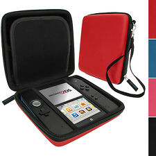 Red EVA Hard Protective Storage Case Cover with Carry Handle for Nintendo 2DS
