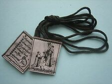 Scapulars brown pure wool, free post, any quantity, (also rosary beads 5euro)