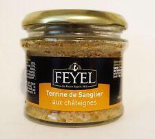 Terrine de Sanglier Wildschwein Kastanie original Elsass 180g Glas Feyel NEU !