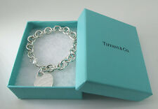 "Tiffany & Co Sterling silver please  Return To Tiffany  Heart Tag 7"" Bracelet"