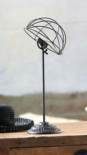 Hat Display Stand Rack  Vintage Style Antique Black Metal Decor Industrial