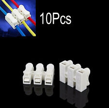 10Pcs 3 Way LED Strip Light Wire Quick Fix Spring Clamp Terminal Block Connector