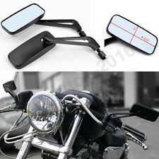 BLACK MOTORCYCLE REARVIEW MIRRORS FOR HONDA SUZUKI CHOPPER BOBBER CRUISER 8-10MM