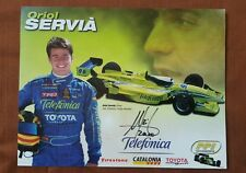 ORIOL SERVIA  AUTOGRAPHED 2000  INDY 500   PHOTO with DataSheet CART Schedule HS
