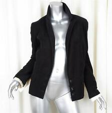 CHANEL 04A Womens $3690 Black Cotton Corduroy Long-Sleeve Blazer Jacket 36/4 NEW