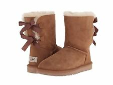 NIB Women's UGG BAILEY BOW Size 7 Chestnut Boots