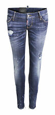 DSQUARED D2 SKINNY WOMENS JEANS STRETCH  GR. IT 42 D 36 DESTROYED NEU S72LA0839