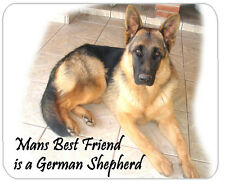 German Shepherd Dog Mouse Mat - Mans Best Friend