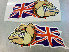 British Bulldog & Union Jack Auto Furgone Moto Adesivi Decalcomanie 2 OFF 100mm