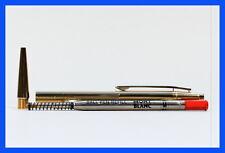 MONTBLANC Kugelschreiber 24K VERGOLDET mit Druckknopf Mechanik / neue rote Mine