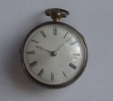 RARE ANTIQUE ENGLISH VERGE FUSEE PAIR CASED POCKET WATCH, PHILIP SMITH, LONDON