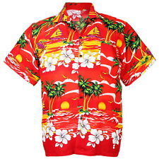 Wonderful Beach Hawaiian Aloha Shirt Sea ISLE Chaba Red L hd228r bid