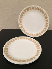 """Vintage Set Of 4 Corelle Butterfly Gold Approx 10.25"""" Dinner Plates EUC!"""