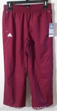NWT Adidas Womens Woven Warm Up Pants L Burgundy MSRP$60