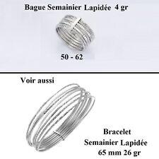 Dolly-Bijoux Bague Rhodié T54 Semainier Sculpté Diamantée Argent Massif 925