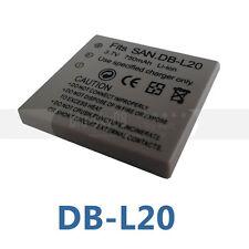 NEW BATTERY FOR SANYO VPC-E7 VPC-CG9 VPC-CA9 VPC-C6 DB-L20 XACTI VPC DMX-C DSC