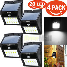 4X 20LED Solar Power Sensor Wall Light Security Motion Weatherproof Outdoor Lamp