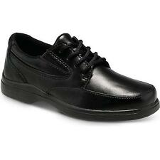 Boys Hush Puppies Black Lace Leather Shoes Youth Size 13 1/2 M