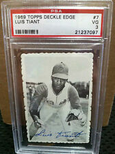 1969 TOPPS DEckle Edge # 7 Luis Tiant PSA GRADED VG-3