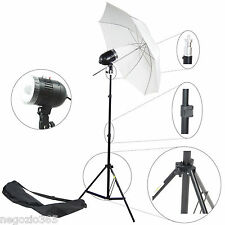 Kit Illuminatore Flash 80W Completo Cavalletto Stativo Lampada Ombrello x Studio