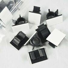 25 Pcs Black Adhesive Backed Nylon Wire Adjustable Cable Clips Clamps YS