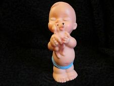 True Vintage 1950 Plastic Toy Kewpie Type Child Dog Painted Japan Display Large