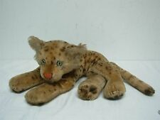 "VINTAGE STEIFF LAYING DOWN LEOPARD ~ 6"" HIGH x 14"" WIDE"
