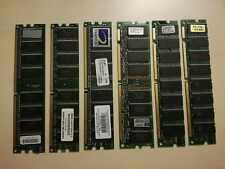 LOTTO di 6 BANCHI: 3x RAM da 256 MB PC3200 184pin + 3x SDRAM PC133 128 MB 168pin